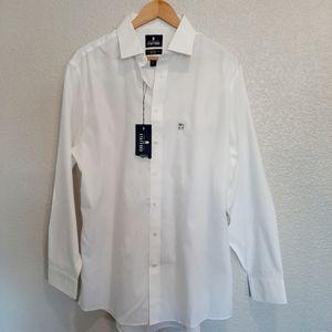 NWT Stafford Men's White Button Dress Shirt